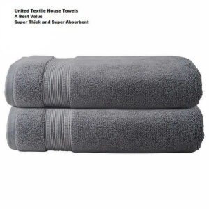 The_Linen_Mart_Charisma_Bath_Towel_Set_Dark_Gray