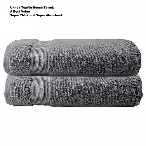 The_Linen_Mart_Charisma_Bath_Towel_Set_Dark_Gray