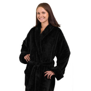 The_Linen_Mart_Tahoe_Fleece_Bath_Robe_black