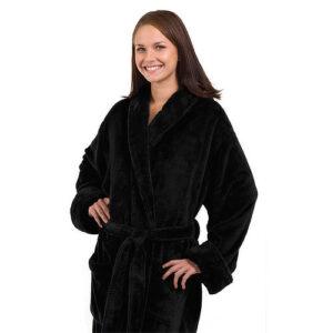 The_Linen_Mart_Tahoe_Fleece_Bath_Robe_black
